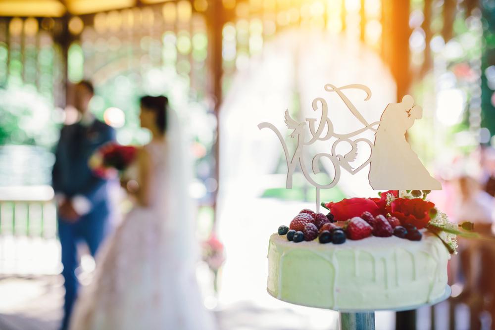 single tier wedding cake for a colonial wedding